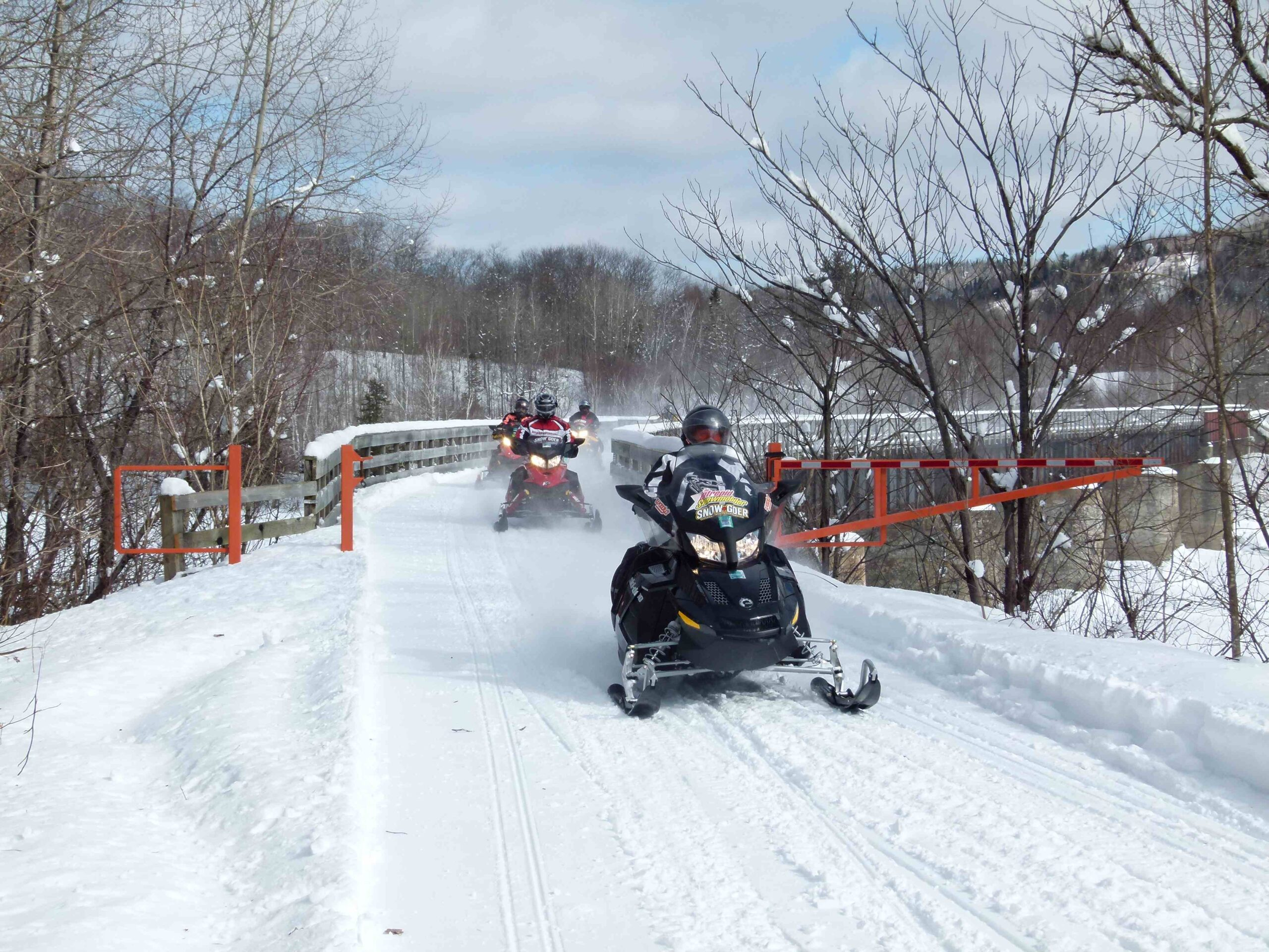 Fractured French Snowmobiling in Quebec