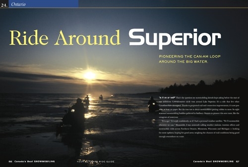 Snowmobile Around Lake Superior Tour