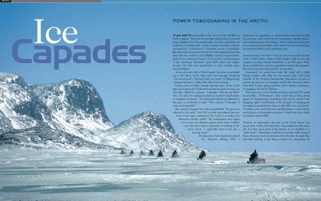 Snowmobile Arctic: Nunavut Canada Tour Planner