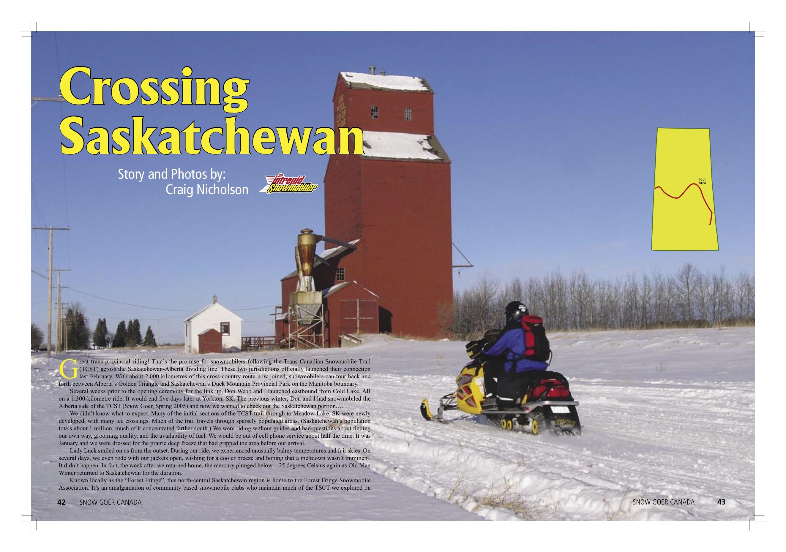 Snowmobile Saskatchewan
