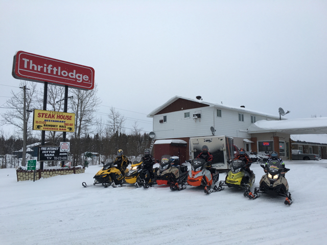 Thriftlodge Cochrane Ontario Canada Snowmobile