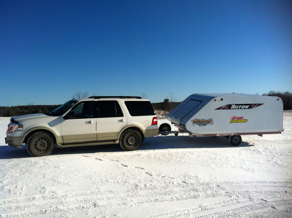 snowmobile tow vehicle