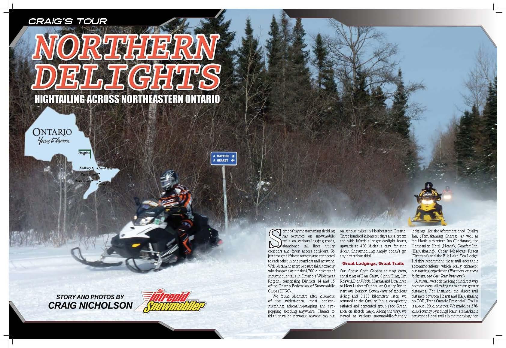 Snowmobile Northeastern Ontario Canada