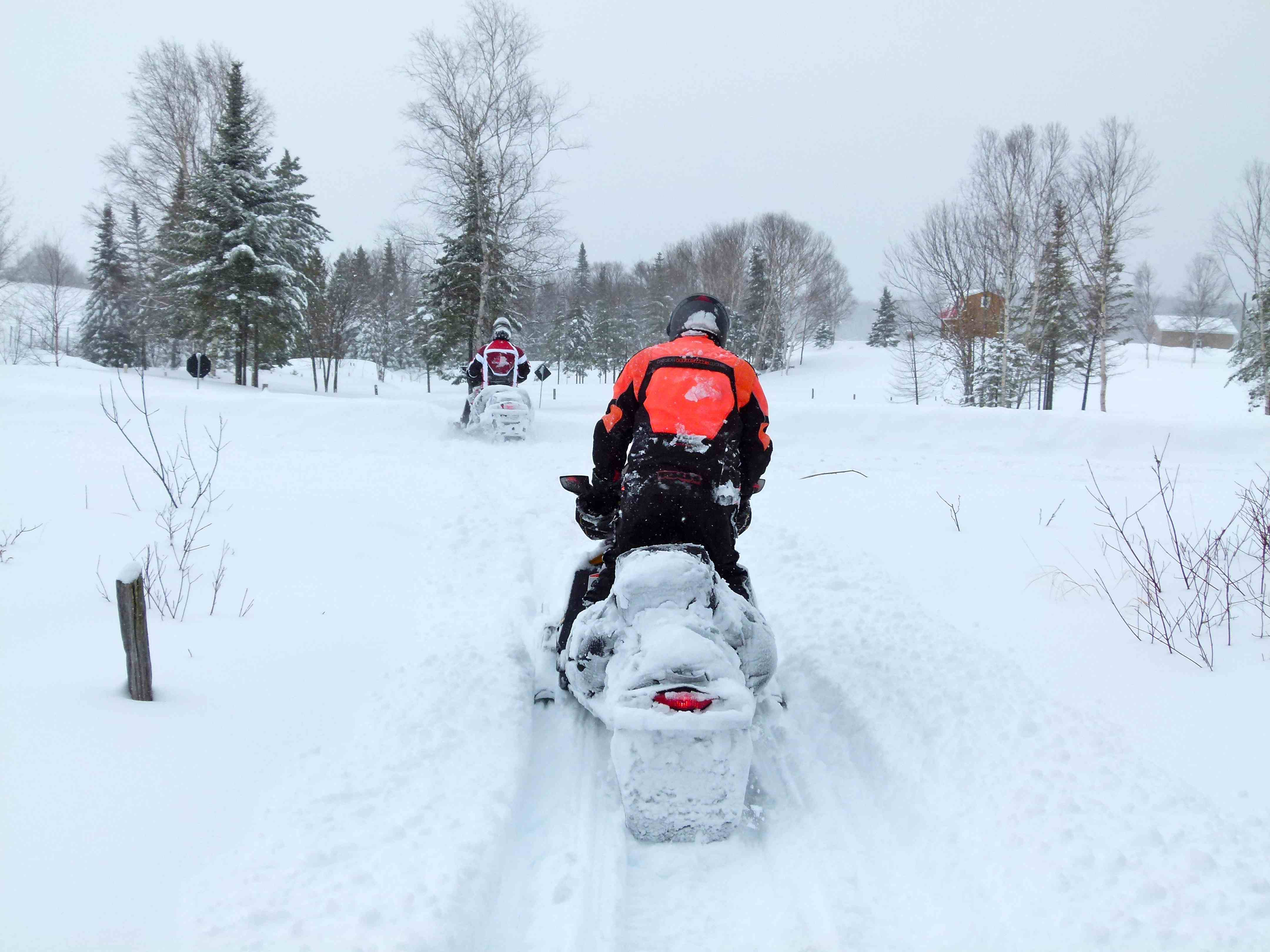 Snowmobile Pathfinding in Heavy Snow