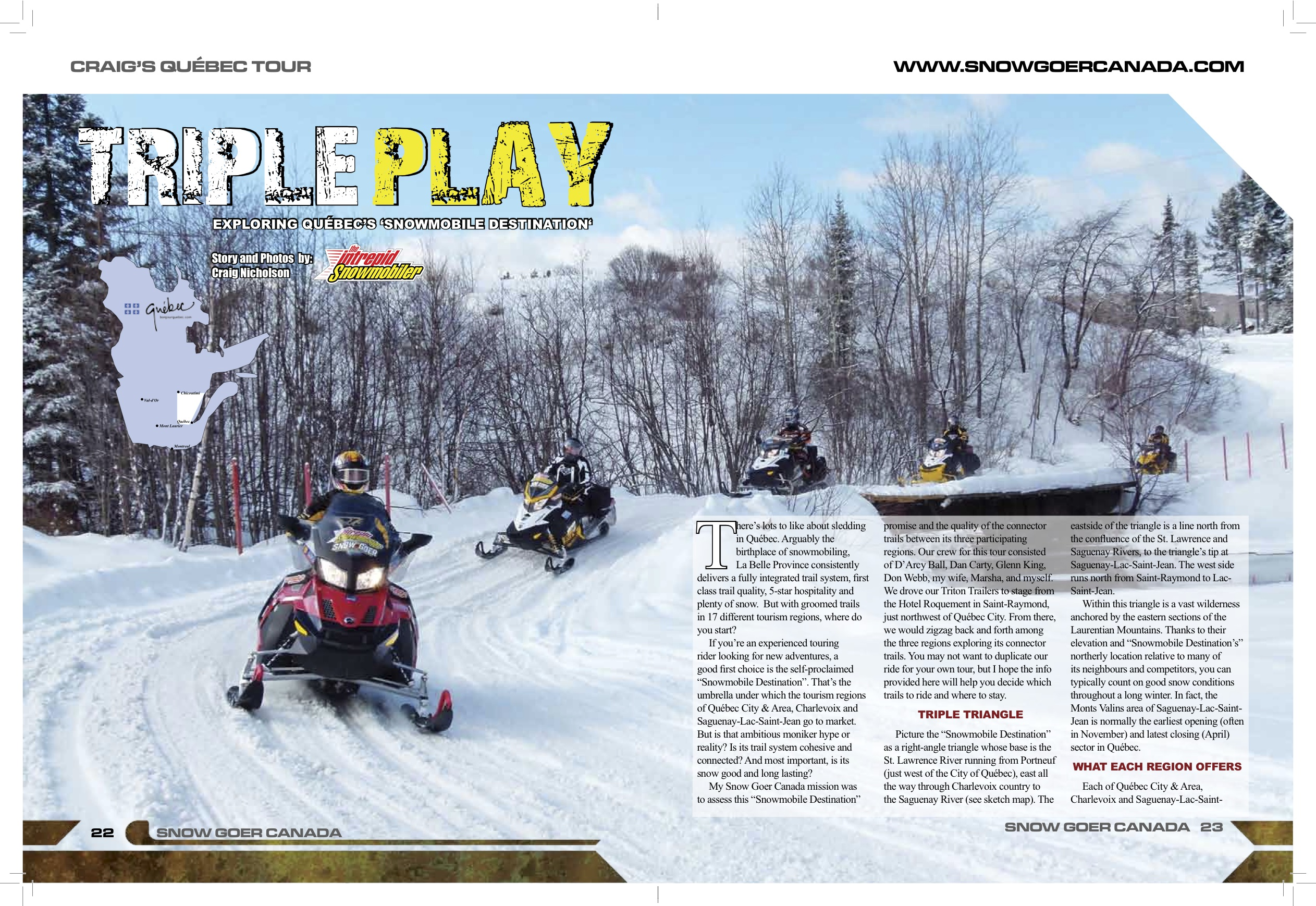 quebec snowmobile destination