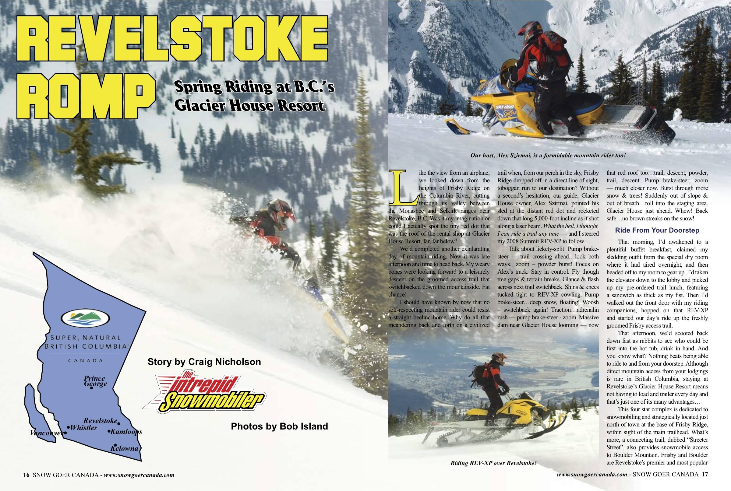 Snowmobile Revelstoke British Columbia Canada