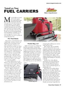 snowmobile fuel carriers