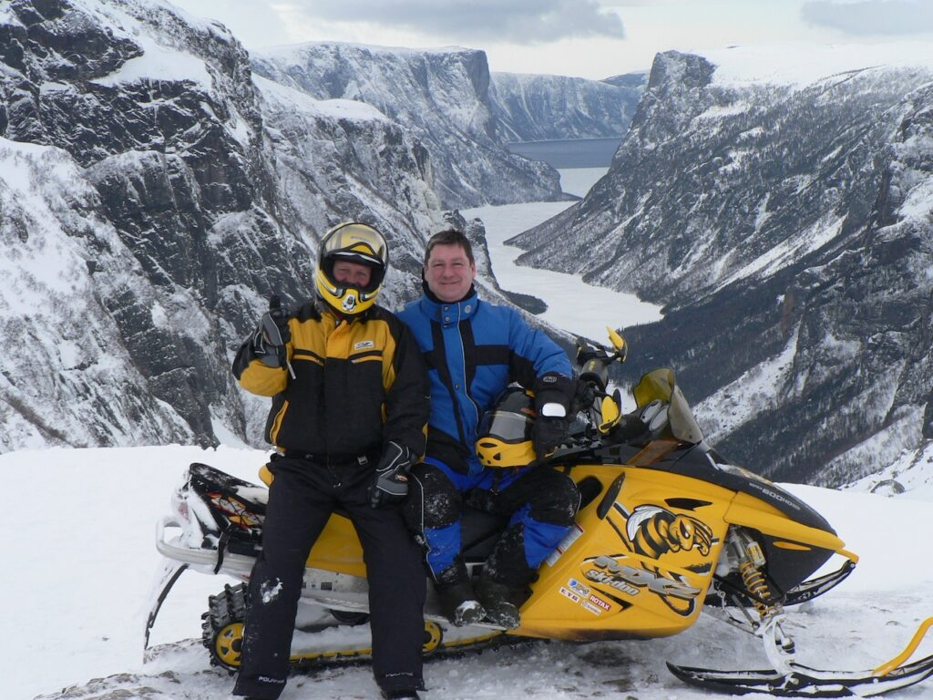 snowmobile western newfoundland View overlooking Gros Morne Fiord