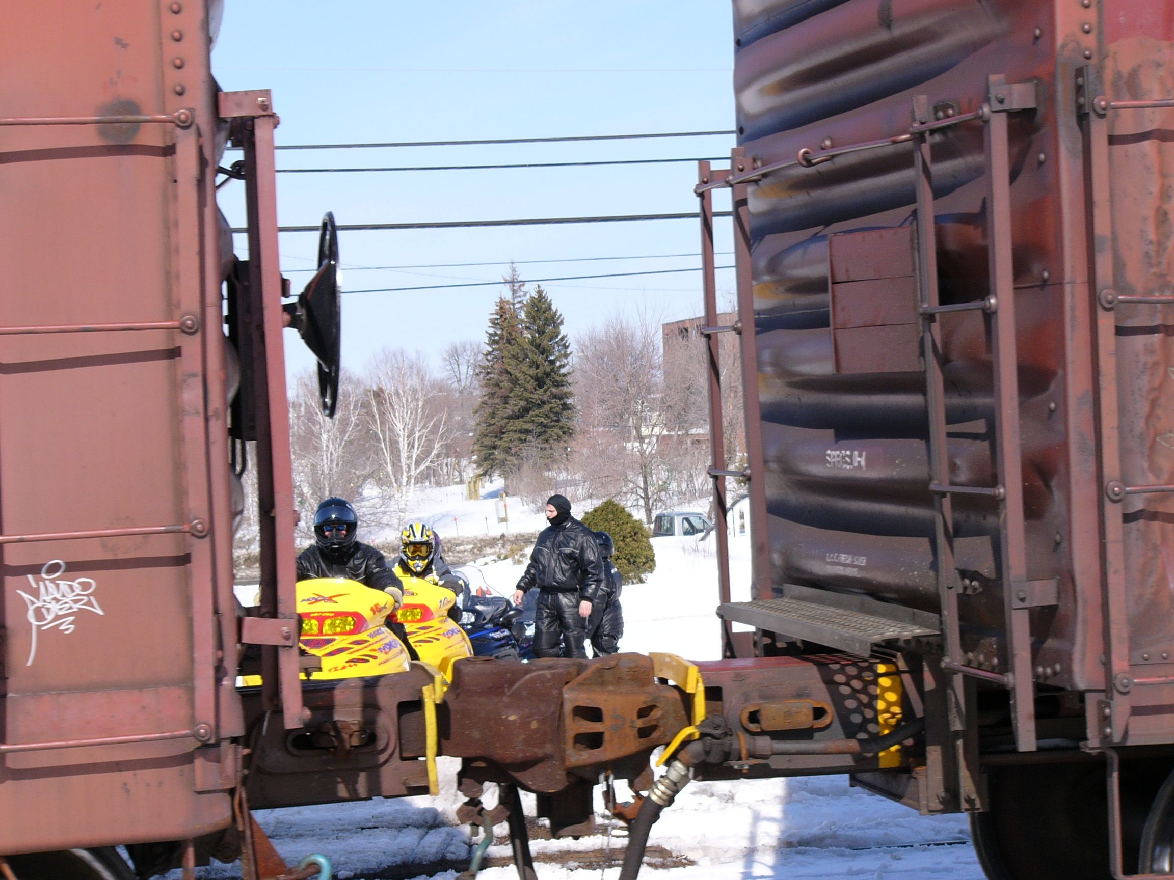 snowmobile trail encounters with trains