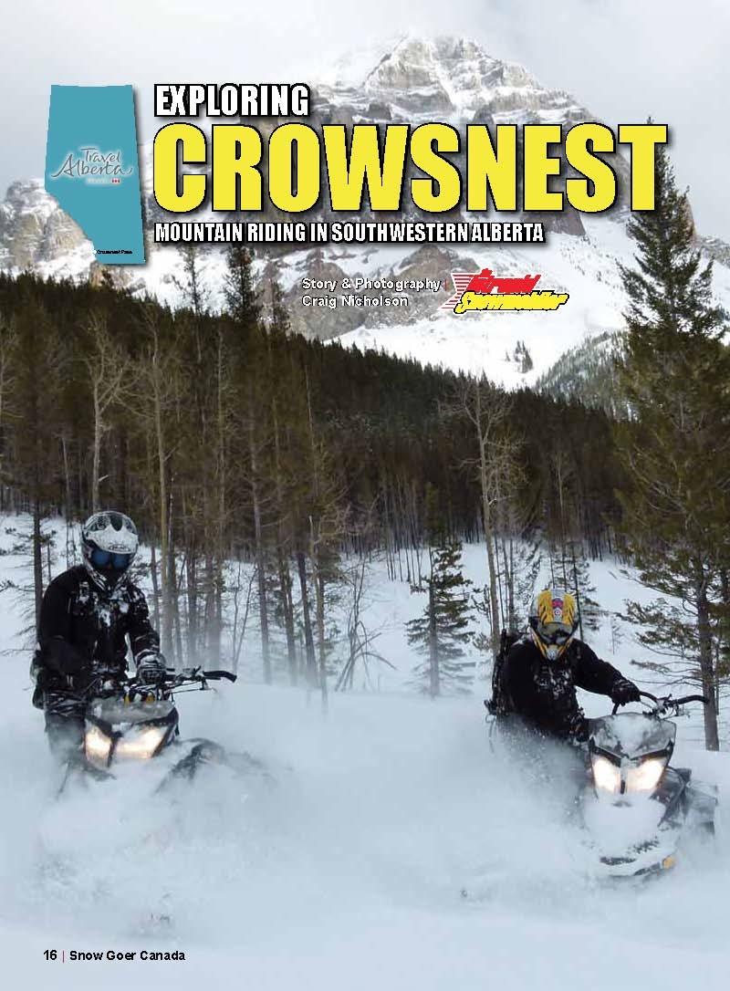 snowmobile crowsnest pass alberta