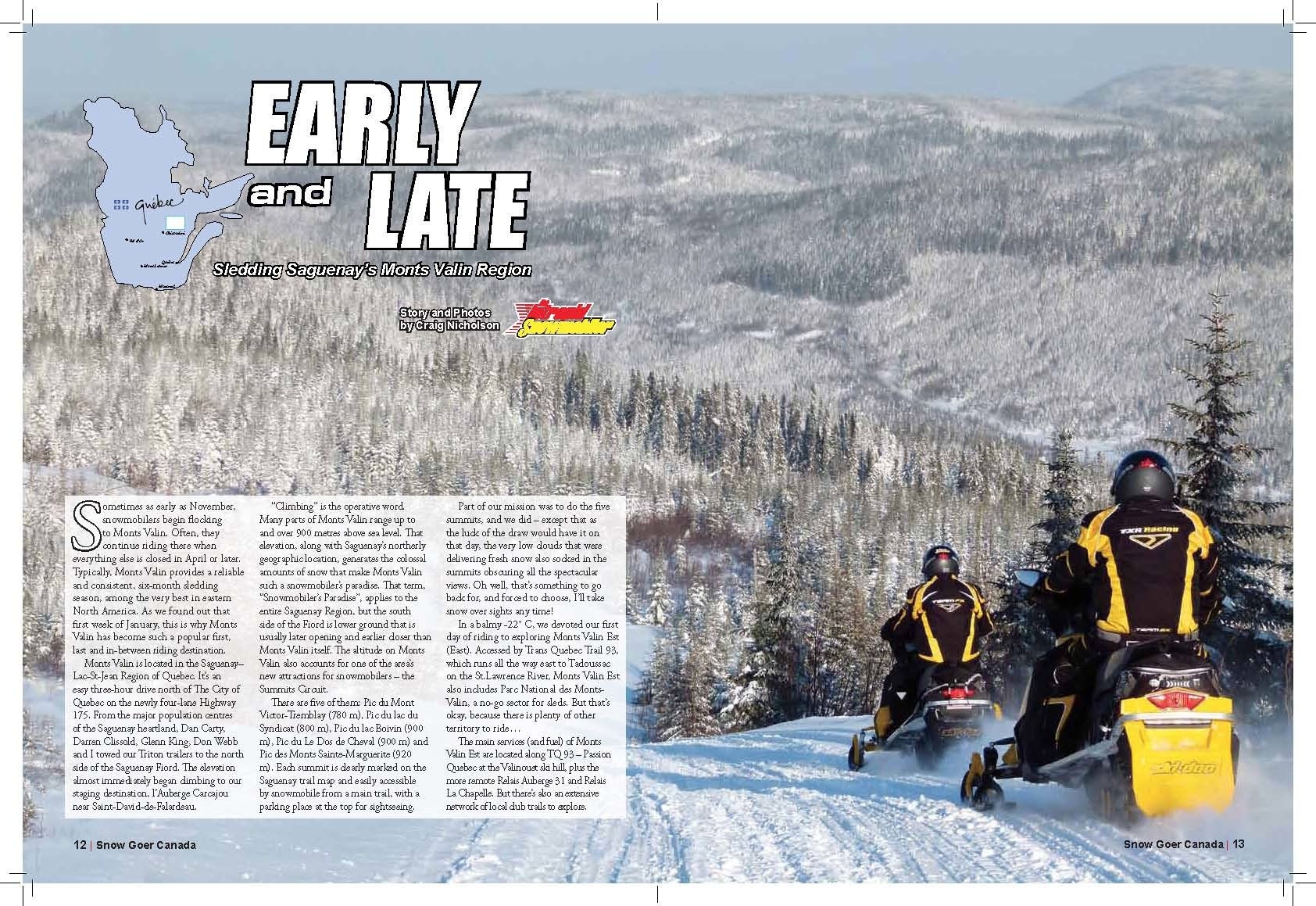 Read the Monts Valin Quebec tour article