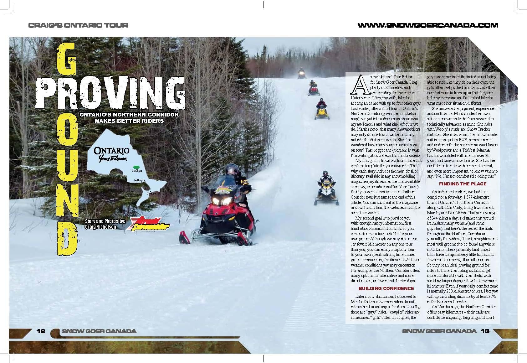 Northern Corridor snowmobiling