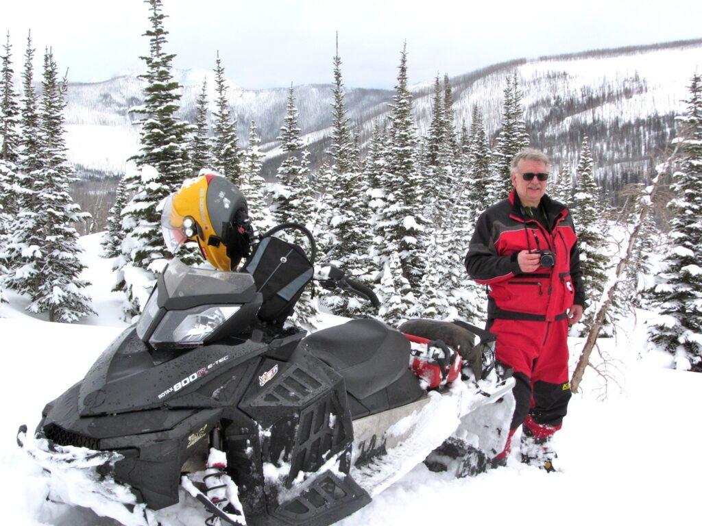snowmobile crowsnest pass alberta Taking a break
