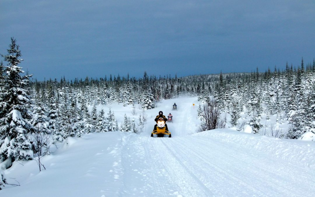 Monts Valin Quebec Snowmobile