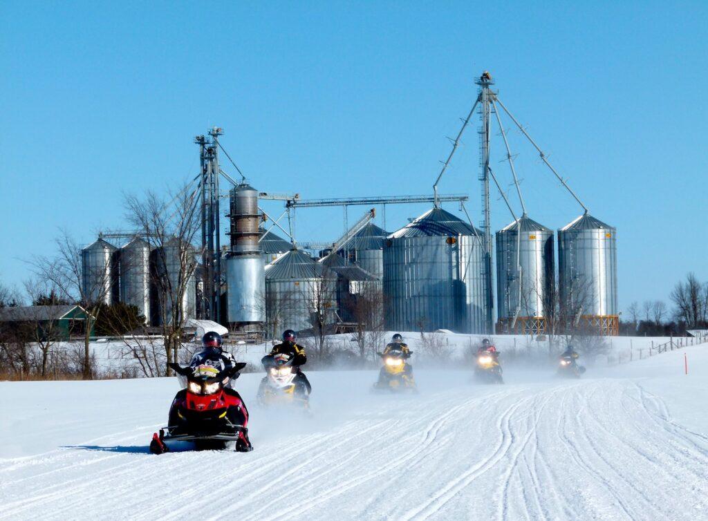 Riding through Eastern Ontario farm country