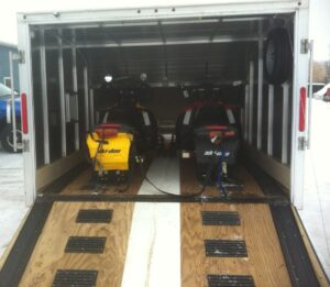 Inside my Triton TC118 snowmobile trailers