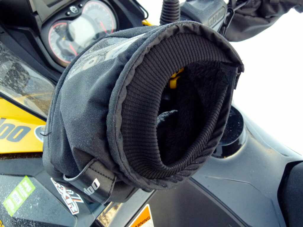 Ski Doo handlebar muffs are among the best hot tips for cold hands