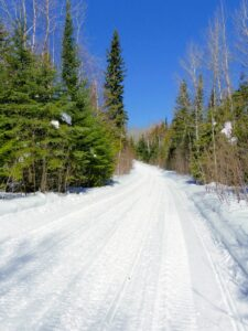 over prepping snowmobile trails