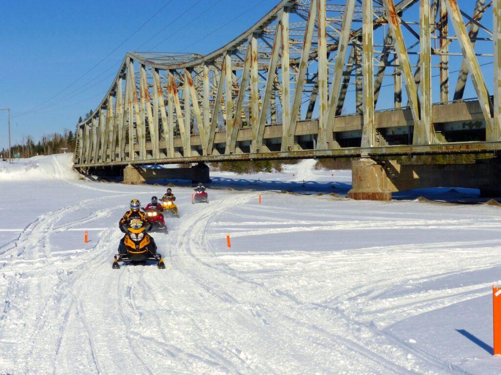 Snowmobile Northern Corridor Northeastern Ontario