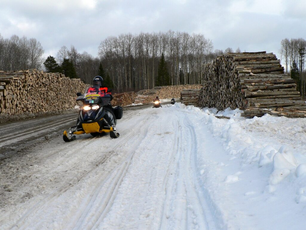 snowmobile active logging roads