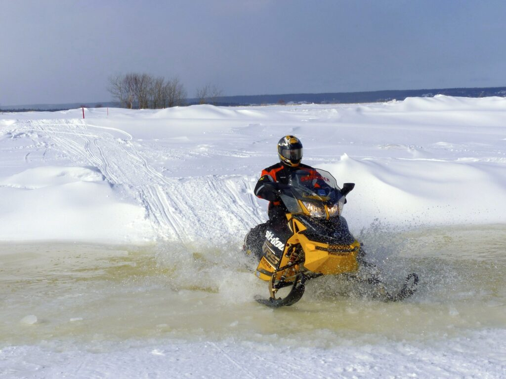 snowmobiling ice