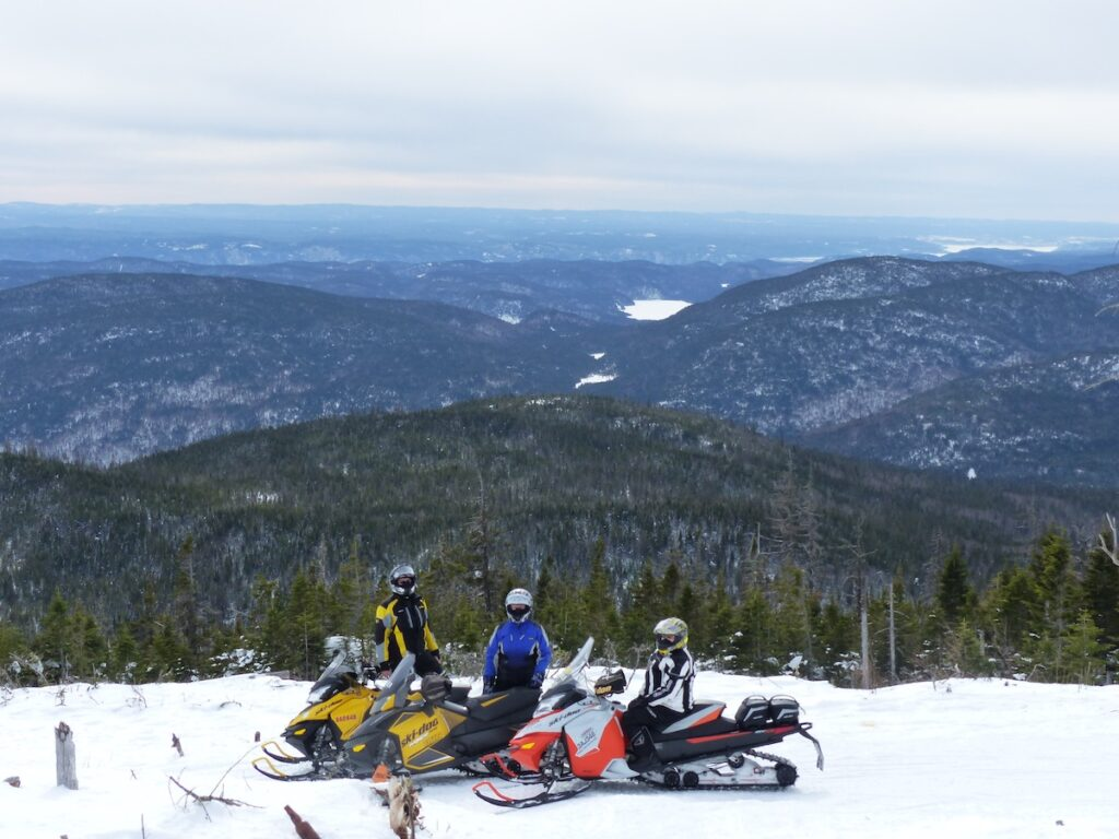 View of go snowmobile Saguenay hills