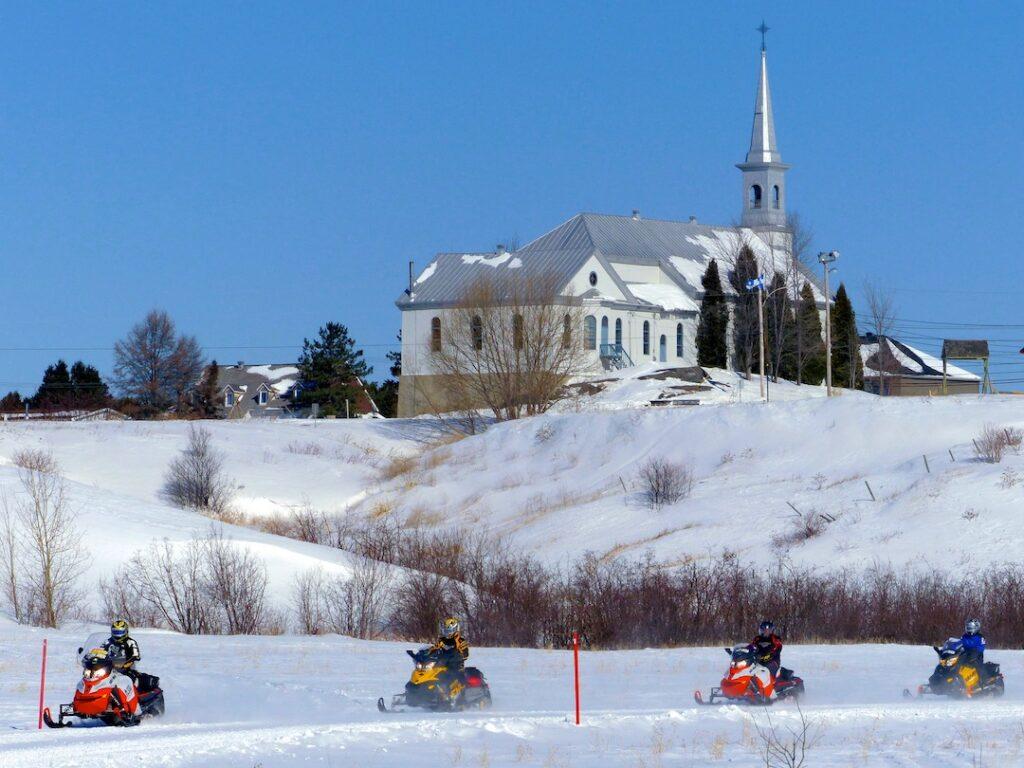 Scenic go Snowmobile Saguenay church