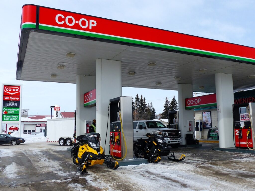 snowmobile eastern saskatchewan Co-op Gas