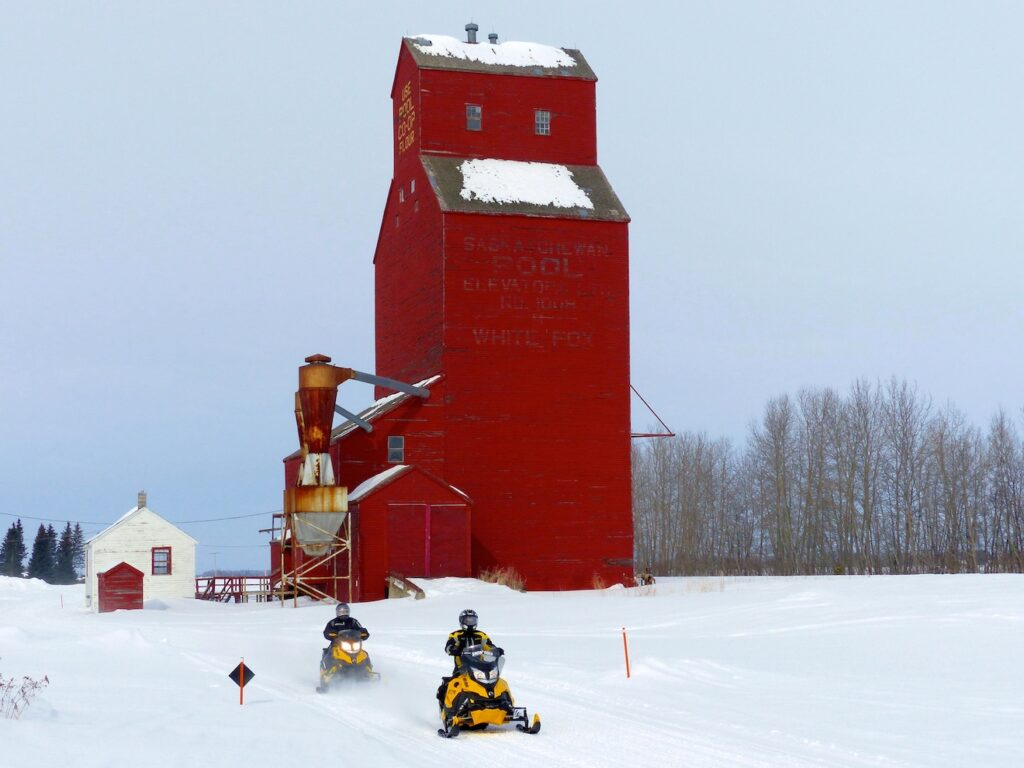 snowmobile eastern saskatchewan Grain Elevator