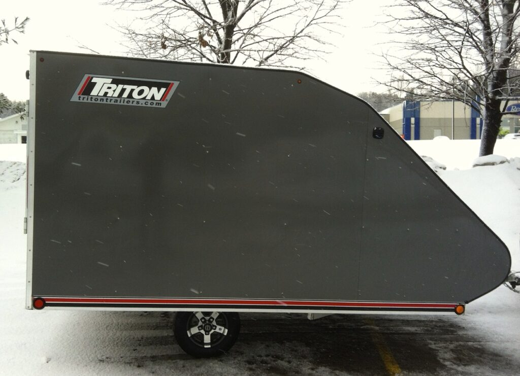 Side view of Triton Low Rider Snowmobile Trailer