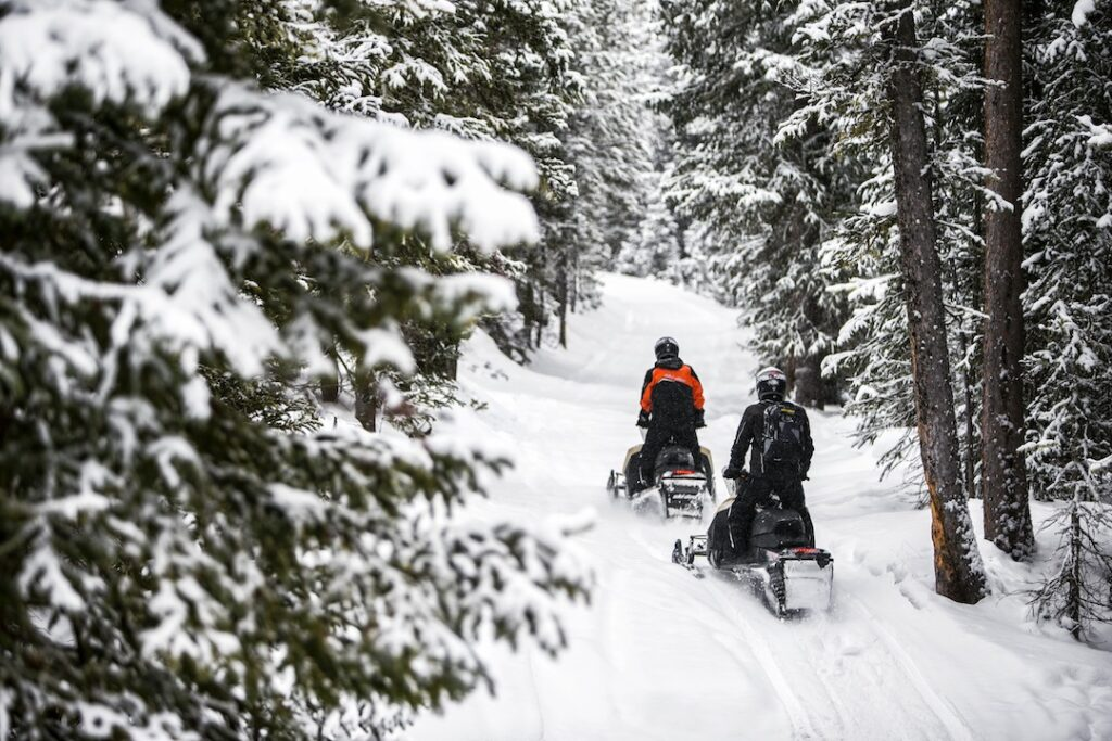 Heading backcountry on Ski Doo Renegade Enduro
