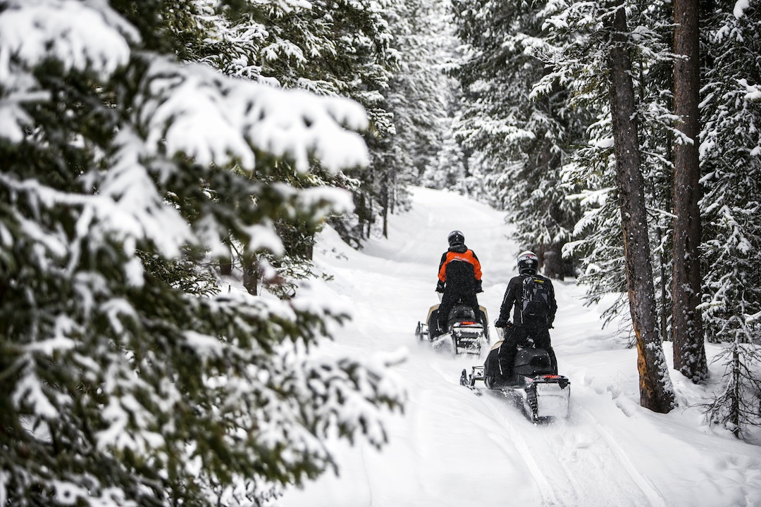 Stay on Snowmobile Trails