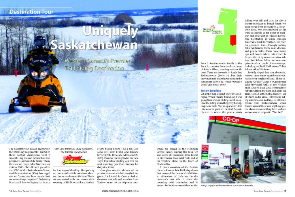 snowmobile eastern saskatchewan