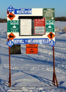 snowmobile eastern saskatchewan Sign