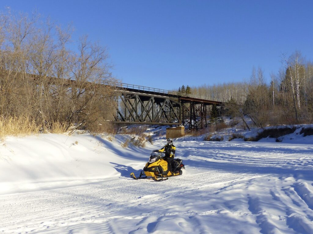 snowmobile eastern saskatchewan Trestle