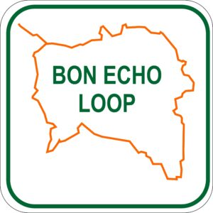 snowmobile bancroft ontario Bon Echo Loop_sign