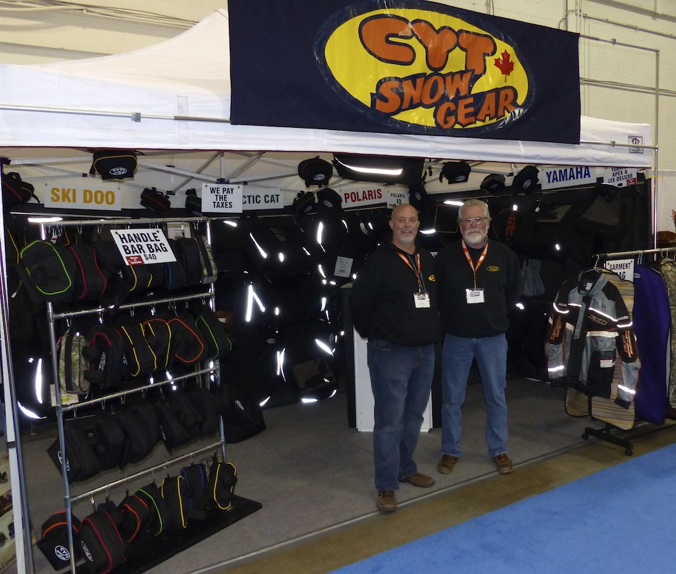 CYT with snowmobile saddlebags for sale at Toronto Show