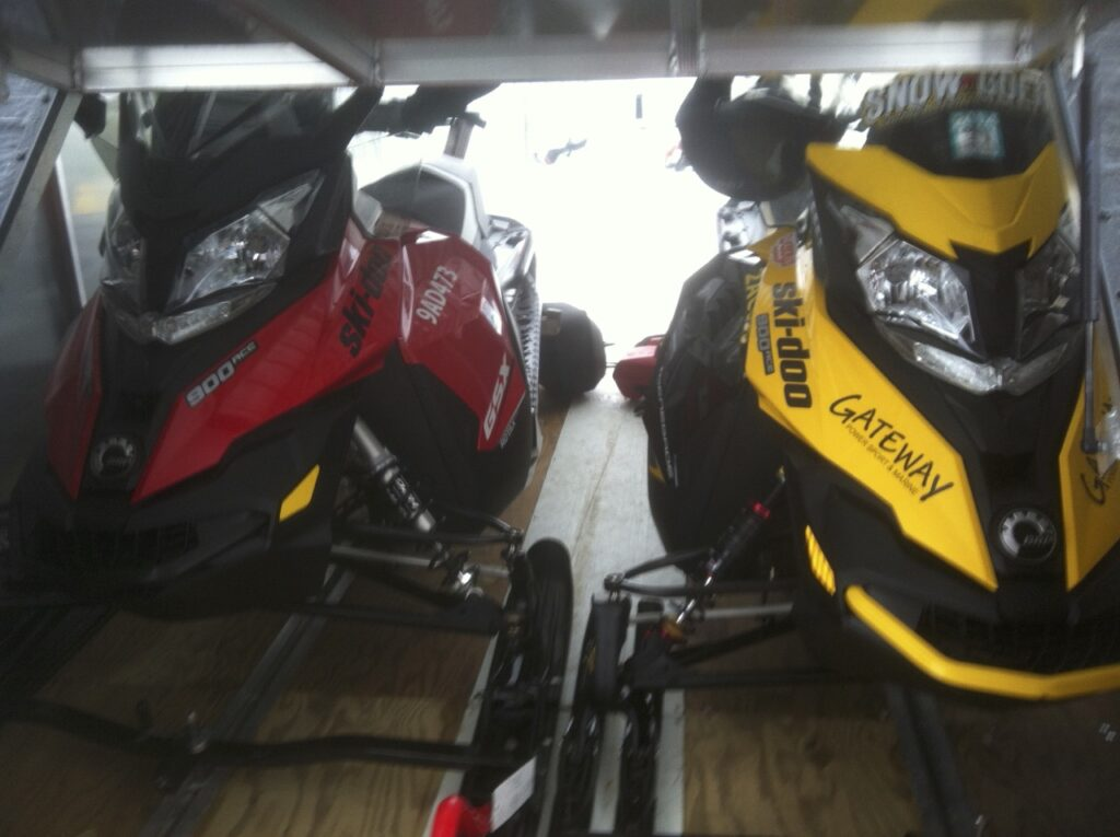own a snowmobile trailer to keep sled protected and clean