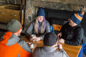 camaraderie at ontario snowmobile restaurants