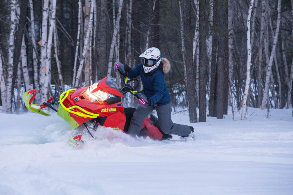 Backcountry riding in fresh powder