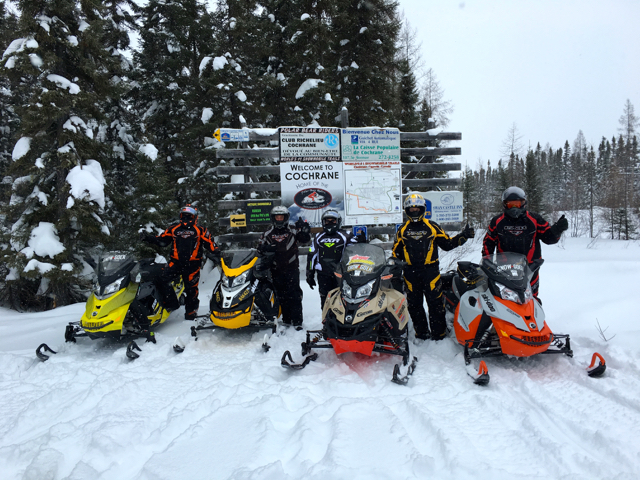 Finding Towns On Snowmobile Tour