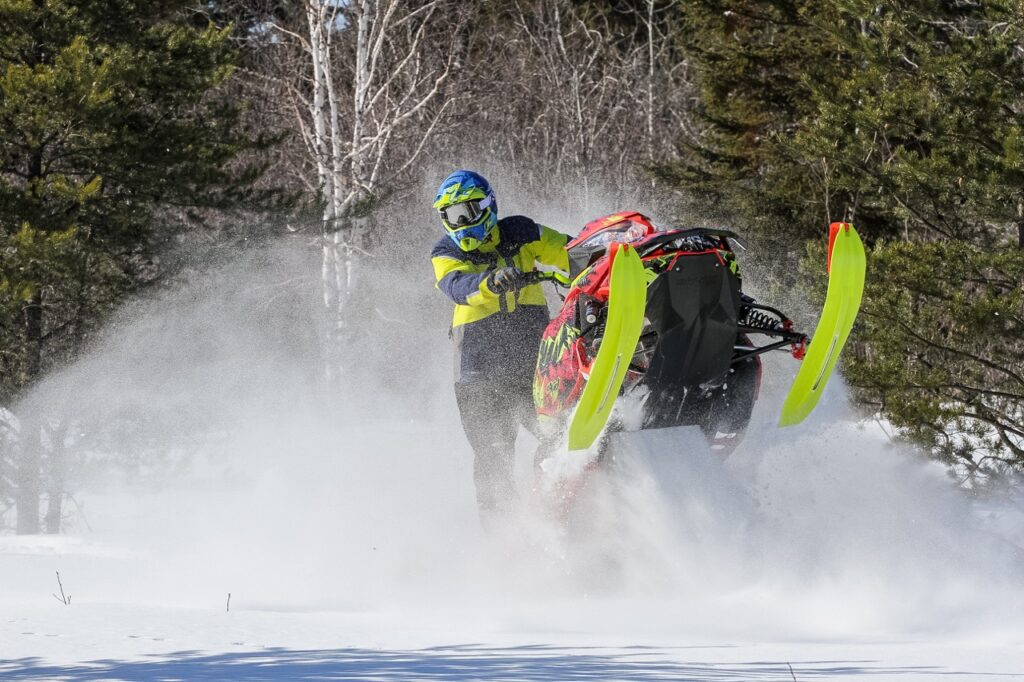 Ski Doo snowmobile backcountry riding