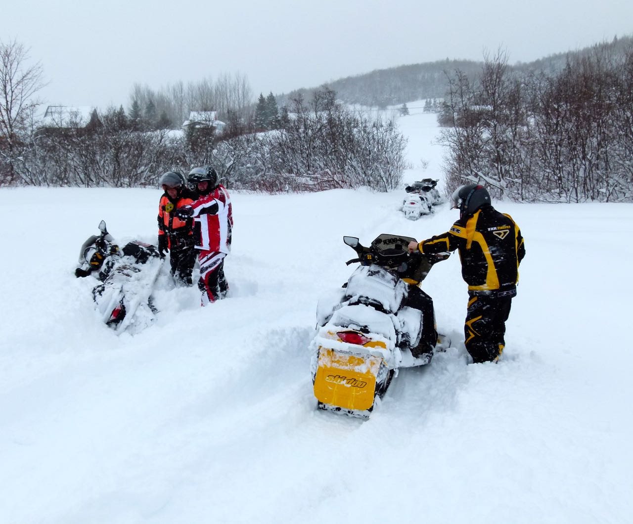 Things Go Wrong On Snowmobile Tour