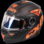 FXR black & orange Fuel Modular best snowmobile helmet