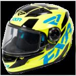 FXR yellow, blue & black Conventional best snowmobile helmet