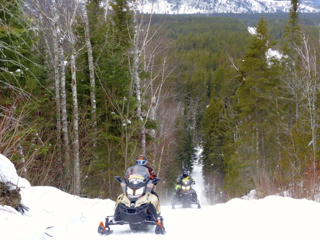 2 sleds, hill country on algoma north shore loop