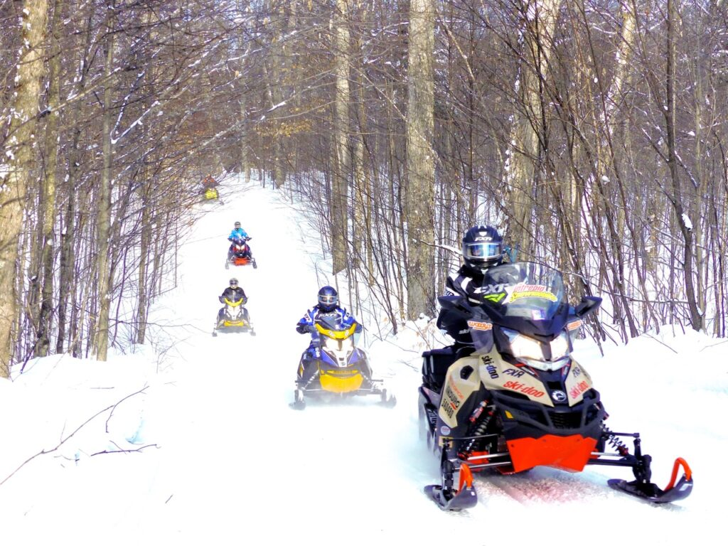 be visible with colourful snowmobiles & gear