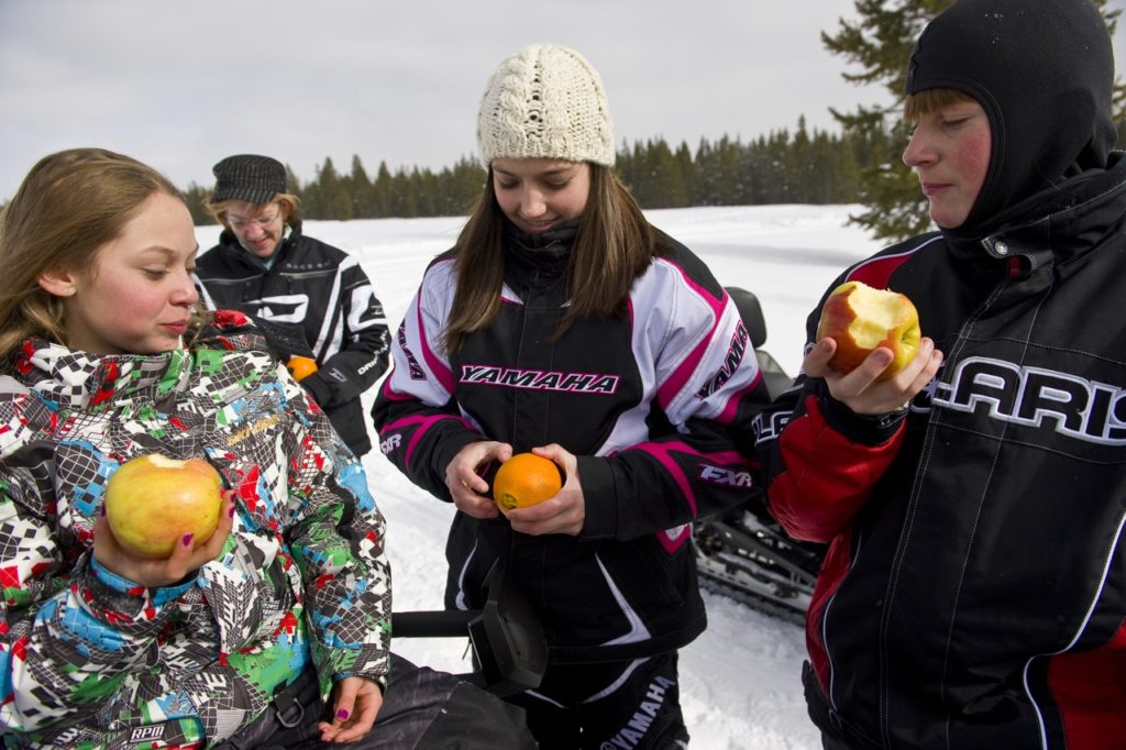 Snowmobiling With Kids On The Trail - Intrepid Snowmobiler