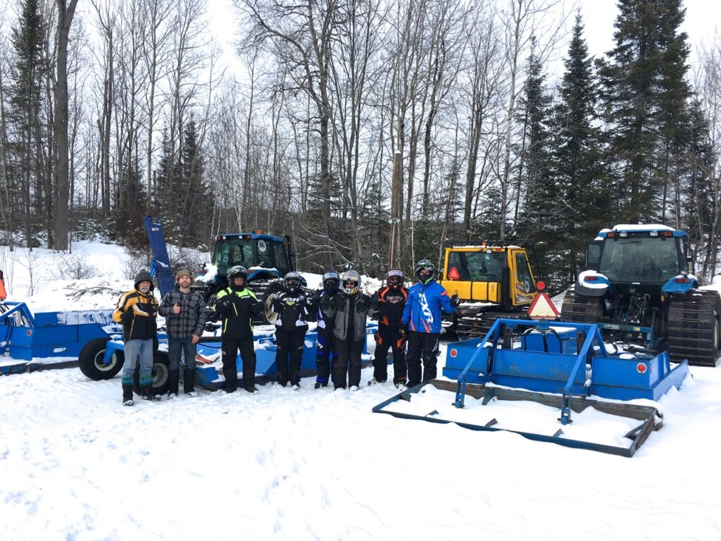 meeting snowmobile trail groomers operators