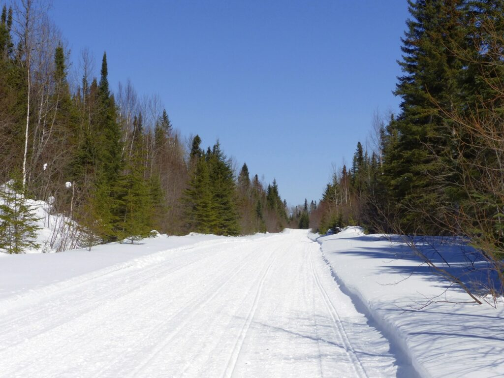 Ontario snowmobile tour destinations - riding Northern Corridor trail